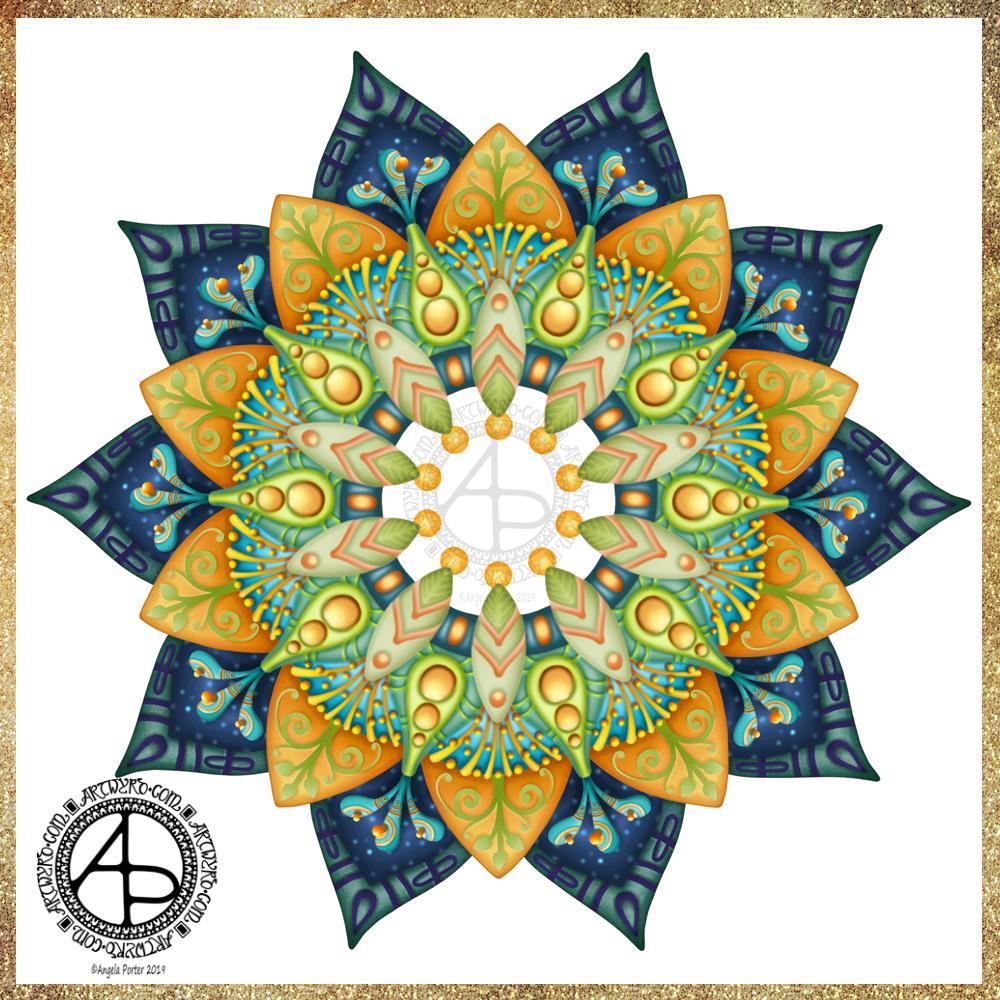 Mandala WIP 03/07/19 ©Angela Porter|Artwyrd.com #createdonsurface #surfaceart #digitalart #mandala