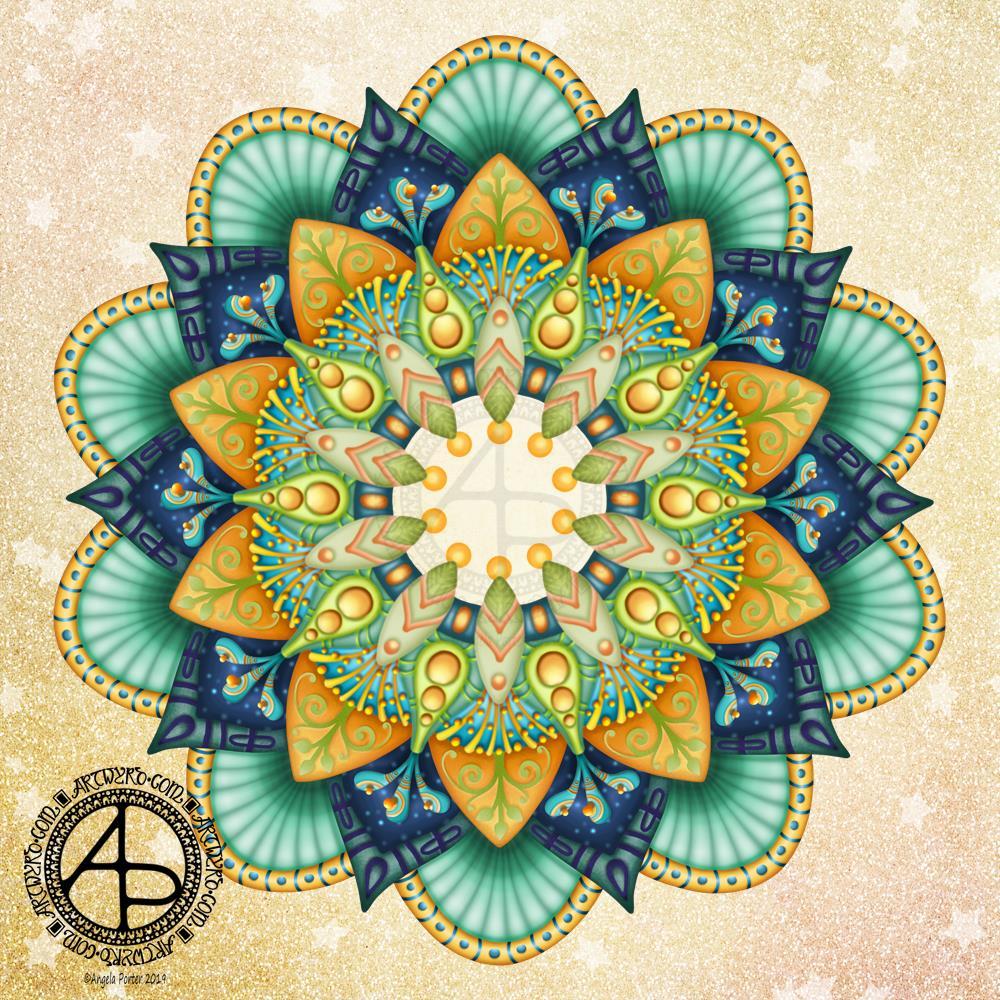 Mandala WIP © Angela Porter | Artwyrd.com