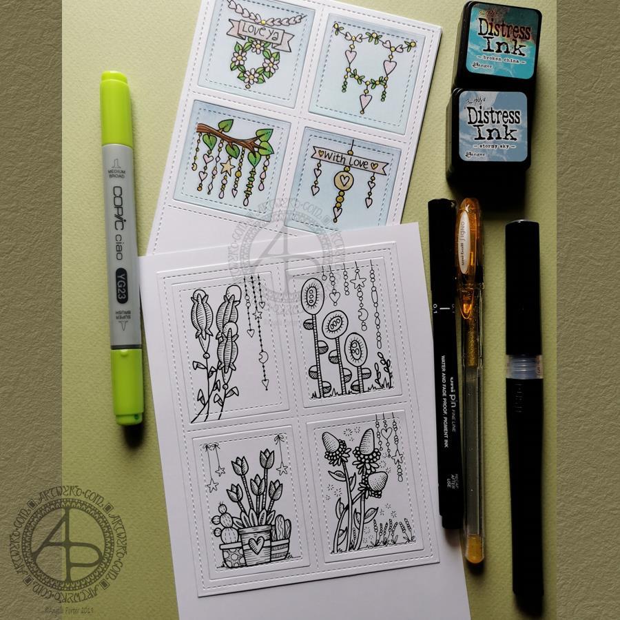 Dangle Design Greeting Cards © Angela Porter | Artwyrd.com