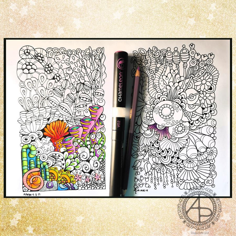 Coloring Reef Illustrations © Angela Porter - Artwyrd.com