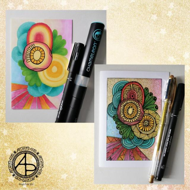 Abstract Art Card Design ©Angela Porter - Artwyrd.com